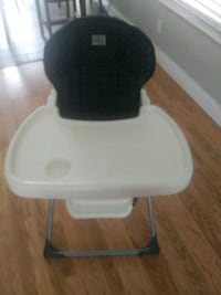 baby's white and black high chair Stockton, 95203