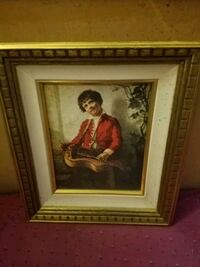 painting with brown wooden frame Modesto, 95356