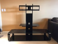 black glass TV stand with mount Seattle, 98199