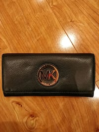Black leather MK long wallet  Markham