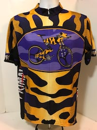 "Vintage 90's Primal Wear ""Wild Thing"" (XL) Frog Graphic Cycling Jersey Long Beach, 90804"