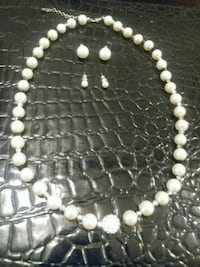 white pearl beaded necklace with pendant McLean, 22101