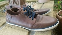H&M Genuine Brown Leather Shoes Sneakers Men 10 44 Winter Park, 32792