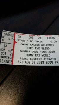 Third Eye Blind tickets  Las Vegas, 89104