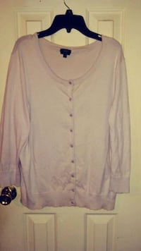 Lavender button-up long-sleeved sweater t 367 mi
