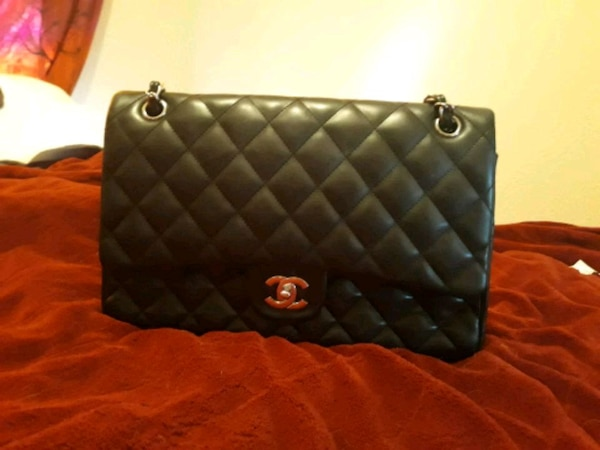 0c274e5956c3 Used quilted black Chanel leather crossbody bag for sale in Reno - letgo