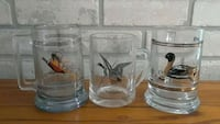 3 Wildlife Collector Mugs..Pheasant, Goose, Duck