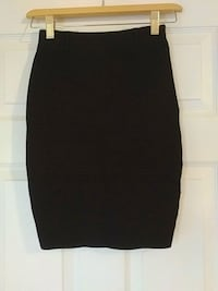 Guess black knee length skirt. Size small.