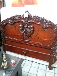 Beautiful Hand Carved Queen Sized Frame w/Mattress Huntsville