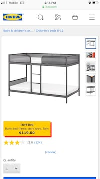 Kids IKEA bunk bed for sale!  Tampa, 33634