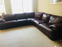 Express Brown leather sectional sofa  San Diego, 92130