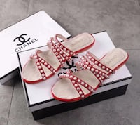 SANDALS CHANEL STYLISH RED BARCELONA