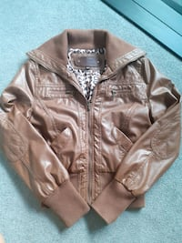 Brown faux leather jacket Burnaby, V5C 1P1