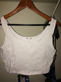 white crop top tank top Fircrest, 98466