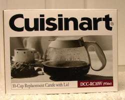 CUISINART 10-CUP REPLACEMENT CARAFE IN WHITE
