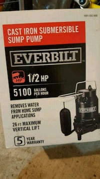 New Cast iron submersible sump pump Toronto, M9N 1A4
