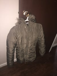 brown zip-up parka jacket Edmonton, T5K 0Z2