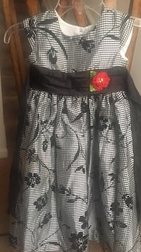 Black and white floral sleeveless dress Stafford, 22556