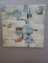 Blue, white, grey, brown canvas picture/ painting