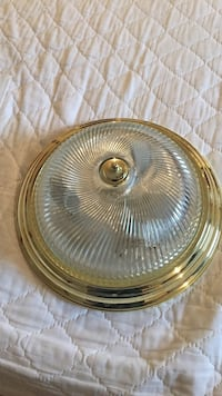Gold tone dome lamp