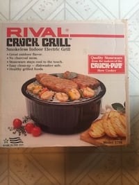 Rival Electric Indoor Grill.  Sarnia, N7S