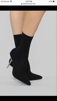 Fashion Nova Sock booties Size 6 Brand New Guelph, N1E 6A6
