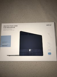 "13"" mac book plastic navy blue case"