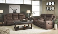 Leather reclining sofa and love seat $1299 $50 down no credit check financing  Roslyn Heights, 11577