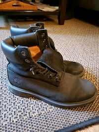 Timberland Black Leather Winter Fall Boots Size 8 Toronto, M2R 1P8