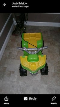 Battery operated 4-wheeler. It has a charger too. Cowarts, 36321