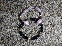 two assorted beaded bracelets