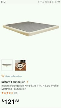 King size bed foundation (new in box)  Palmdale, 93550