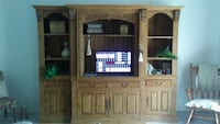 brown wooden TV hutch with flat screen television Pompano Beach, 33062