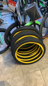 BRAND NEW Yellow BMX Tires @ Harvester Bikes
