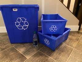 3 NEW RECYCLE BOXES
