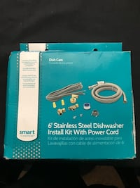 6' Stainless Steel Dishwasher Install Kit w/ Power Cord Huntington Beach, 92646
