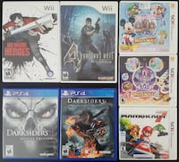 Various Games, Nintendo 3ds, Wii, PS4 Burnaby