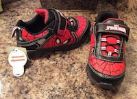 Spiderman black, red, & white low top sneakers ( brand new with tag )- lights up Calgary, T2J 1V6
