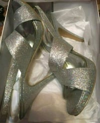 Nine west silver heels Welland, L3C 7A9
