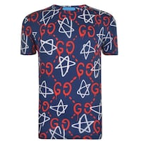 blue, red, and white Gucci star graphic crew-neck t-shirt Barrie, L4N 8P2