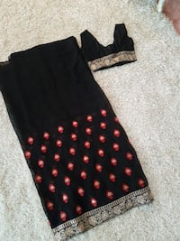 Black Red Gold thread work sari Surrey, V3S 7W7