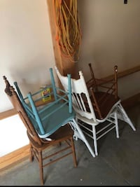 Four Vintage Chairs - perfect for a project  Wake Forest, 27587