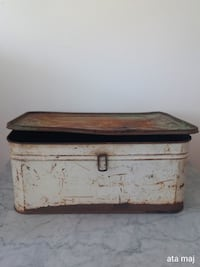 Antique Tin Bread Box Surrey