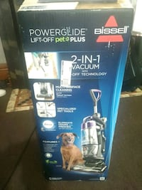 black and blue Bissell upright vacuum cleaner box Hamilton, 45015