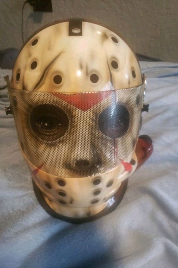 Used Airbrushed Jason Motorcycle Helmet For Sale In St Petersburg