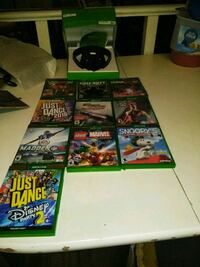 XBox One Headset and 10 games