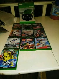 XBox One Headset and 10 games Las Vegas, 89122