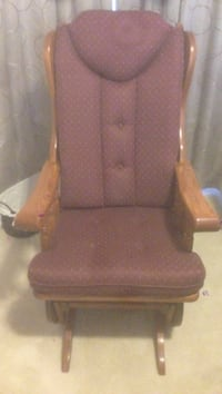 Brown wooden framed brown padded glider chair Charles Town, 25414