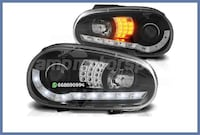 FAROS LED+INTERMITENTE NEGRO VW GOLF MK4 MADRID
