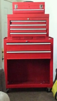 red and gray tool cabinet Edmonton, T5H 2C7